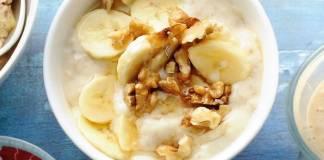Recept: Havermout, banaan en walnoten
