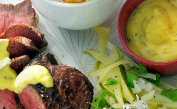 Biefstuk met witlofsalade